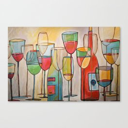 Abstract Modern Wine Art / Wine Tasting Canvas Print