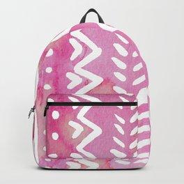 Loose boho chic pattern - pink Backpack