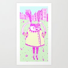 I wanna go Art Print