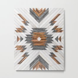 Urban Tribal Pattern No.8 - Aztec - Wood Metal Print