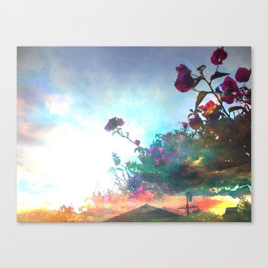 Storm of a Green Thumb Canvas Print