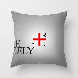 Live Freely Throw Pillow