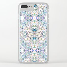 That Butterfly Feeling (White) Clear iPhone Case