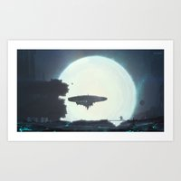 Night of supernova Art Print