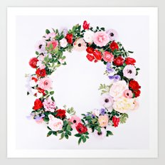 Floral Wreath Art Print
