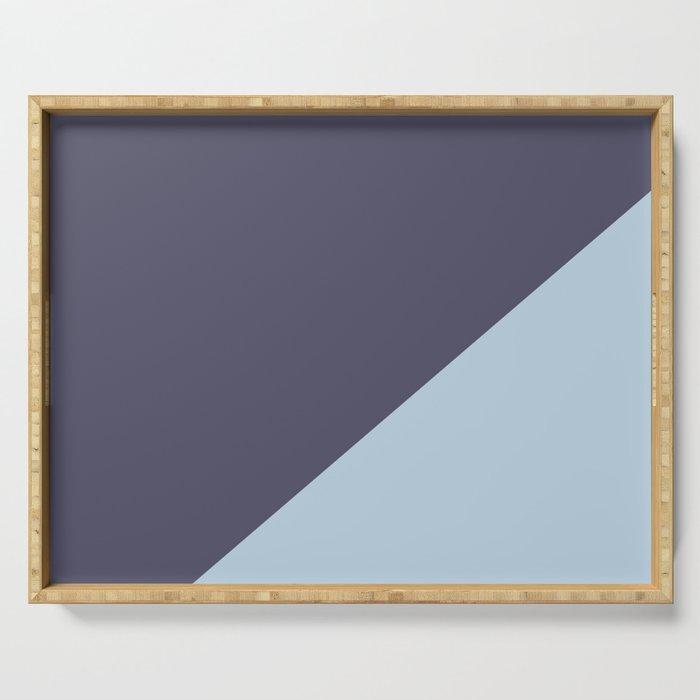 Purple Blue & Light Blue - oblique Serving Tray