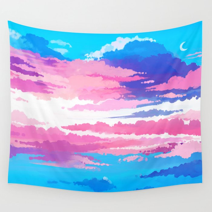 Trans Pride Wall Tapestry By Starplasma