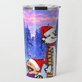 Calvin Christmas Travel Mug