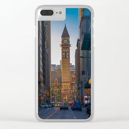 Toronto old city hall courthouse Clear iPhone Case