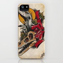 velociraptor tattoo flash iPhone Case
