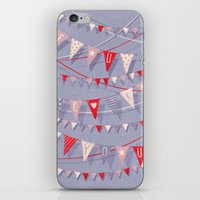 card iPhone & iPod Skins featuring Hate card by Lime