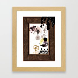 time is a concept Framed Art Print