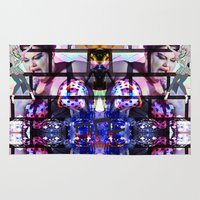 hologram Area & Throw Rugs featuring BETH DITTO by Riot Clothing