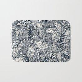 forest floor indigo ivory Bath Mat