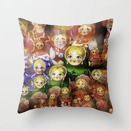 Matryoshka dolls Throw Pillow