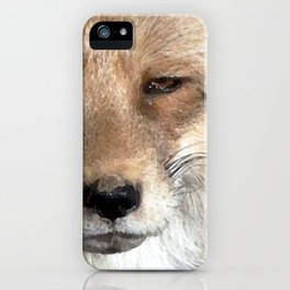 Watercolor Red Fox Mask 04 iPhone Case