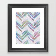 Lilli Chevron {light} Framed Art Print