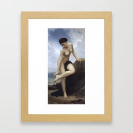 William-Adolphe Bouguereau - After the bath Framed Art Print
