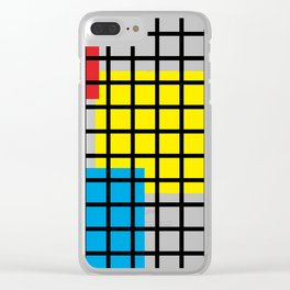Modern geometric background, red, yellow, green,orange and blue  #society6 #decor #buyart #artprint Clear iPhone Case