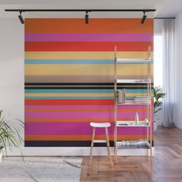 Sunset Stripes Wall Mural
