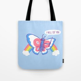 Butterfly Knife Tote Bag