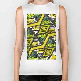 Yellow tropical vibes Biker Tank