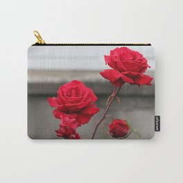 Bright Red Roses Carry-All Pouch
