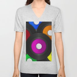 45 RPM Records Unisex V-Neck