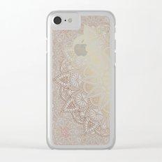 Mandala - Bronze Clear iPhone Case