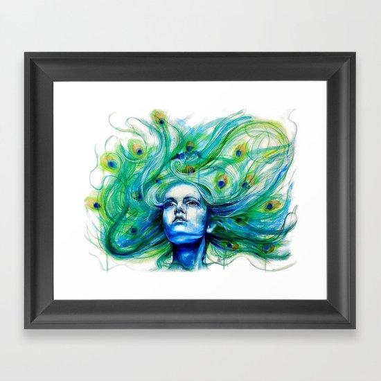 Metamorphosis-peacock Framed Art Print
