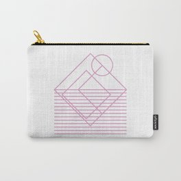 Goemetric sunset in pink Carry-All Pouch