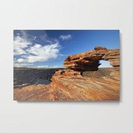 Nature's Window natural rock arch in Kalbarri NP, Western Australia Metal Print