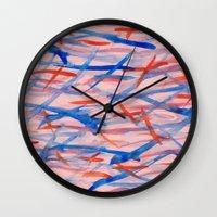 swim Wall Clocks featuring Swim by Sandra Arduini