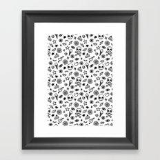 Doodle Pattern Framed Art Print