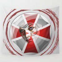 umbrella Wall Tapestries featuring Umbrella Corp by milanova