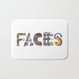 MACHINE LETTERS - FACES Bath Mat