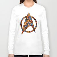 picard Long Sleeve T-shirts featuring STARFLEET by badOdds