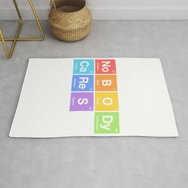 Nobody Cares - Periodic Table of Elements Rainbow Rug