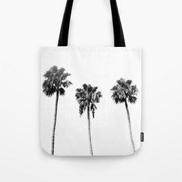 Black + White Palm Trees Tote Bag