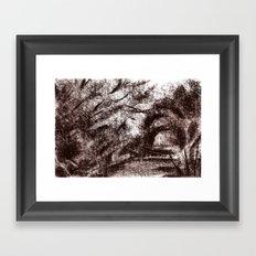 Trees sepia Framed Art Print