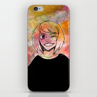 risa rodil iPhone & iPod Skins featuring Risa Multi colour by Laura Monaghan Illustration