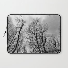 Creepy black and white trees Laptop Sleeve
