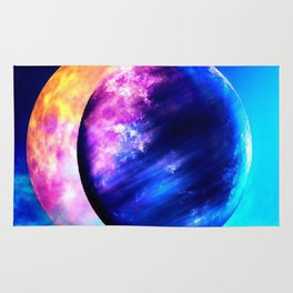 Two worlds (Sun and Moon) Rug