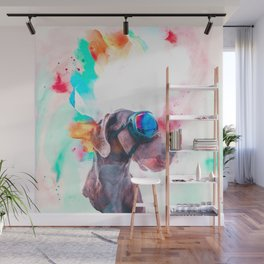 Great Dane Illustration Wall Mural