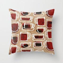 morning pattern Throw Pillow