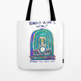 Radio What's New? Tote Bag