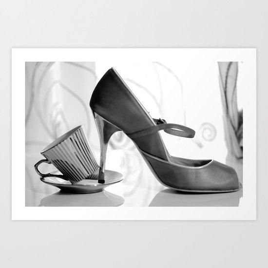 Glamorous Obsessions in high heels Art Print