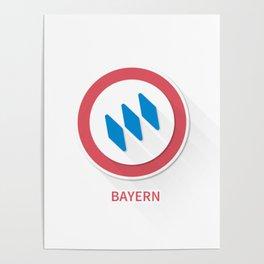 Bayern Munich Smooth Logo Poster