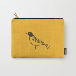 Robin on Gold Carry-All Pouch