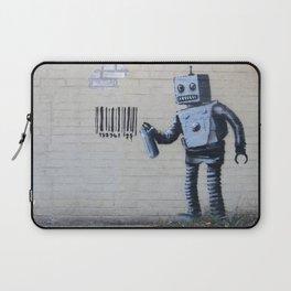 Banksy Robot (Coney Island, NYC) Laptop Sleeve